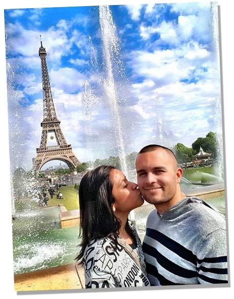 A romantic getaway in Paris