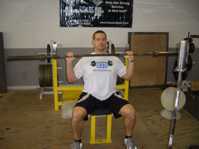 seated barbell military press  Seated Military Press Shoulder