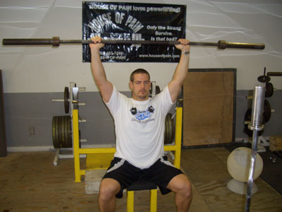 seated barbell military press  Seated Military Press Shoulder Exercise