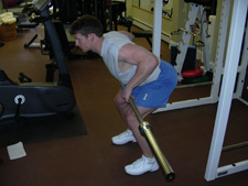 standing barbell row