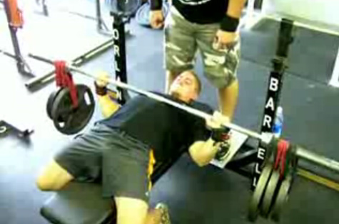 Crazy Plates Bench Press Chest Exercise