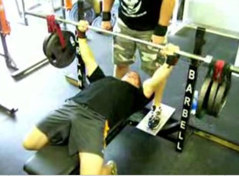 Crazy Plates Bench Press Chest Exercise Video Example