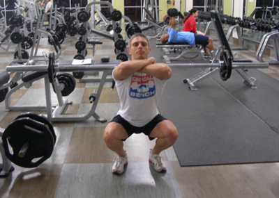 Front Squat Leg Exercise