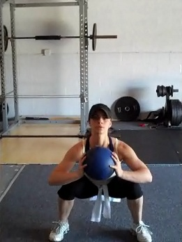 Medicine Ball Squats Exercise Video Example