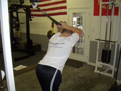 Overhead Tricep Cable Extension Exercise