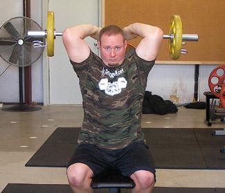 Overhead Triceps Extensions Ez Curl Bar