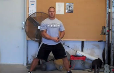 Reverse Cable Woodchops Abdominal Exercise
