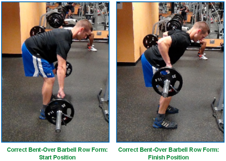 bent over barbell correct