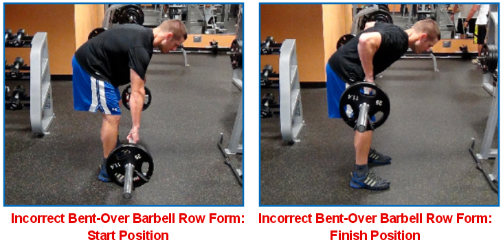 bent over barbell incorrect