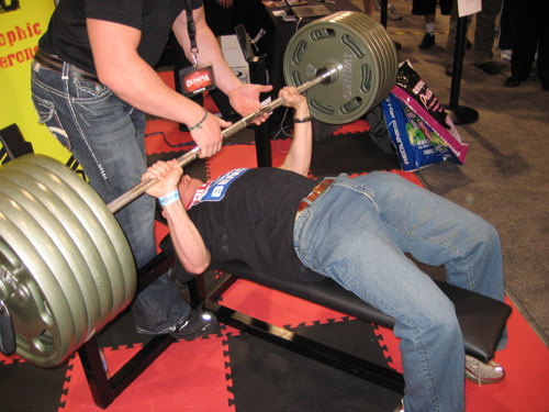 Bench Pressing Fake 585