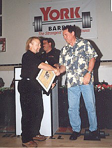 Rickey Dale Crain Accepting Induction Into the Powerlifting Hall of Fame