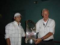 Will Groff With World Series Trophy