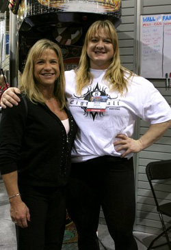 Amanda Micka with worlds strongest woman Becca Swanson