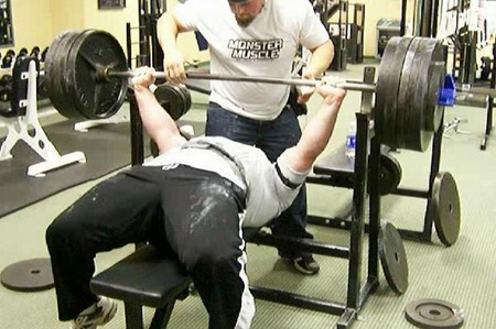 454 unequipped bench press by Steve Birdsong