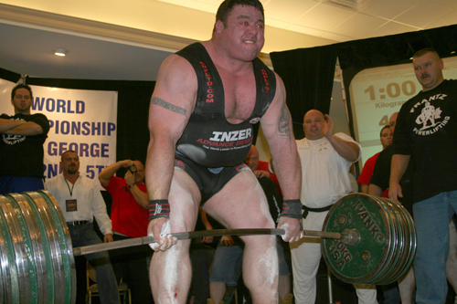 Deadlifter Andy Bolton - Very Strong Powerlifter