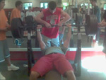 Elias Danos benches 405 pounds