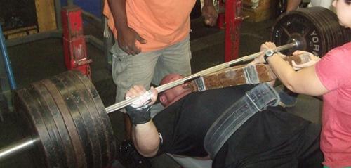 Bench press training