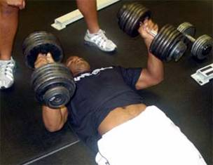 dumbbell floor presses