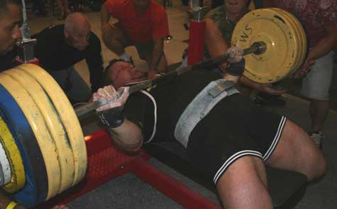 Another huge bench press attempt by James Grandick