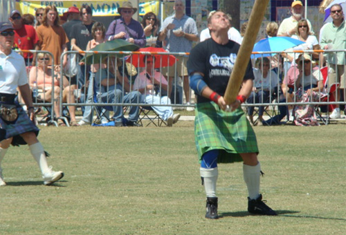 Sheaf Toss Highland Games Event