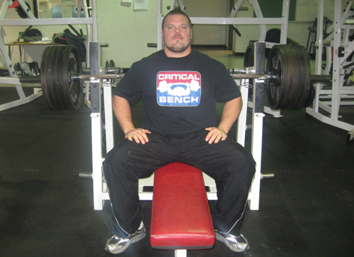 Chris Janek Utah Blaze Powerlifter Critical Bench