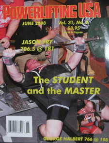 Bench Press Wonder Jay Jason Fry Graces the cover of Powerlifting USA