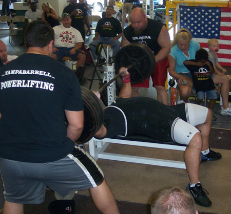 John Burkhead Bench Press at APA Nationals