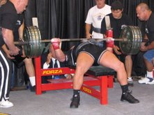 bench press machine Kenny Patterson of Westside