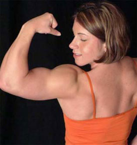 Female Powerlifter Laura Phelps