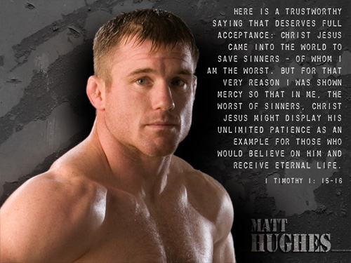 While interesting, the article failed to touch on one of the most vocal Christians in the sport: Matt Hughes.