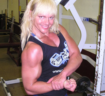 Anita Ramsey With Her Critical Bench Muscle Shirt