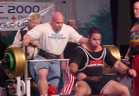 Mike benches 600 + pounds