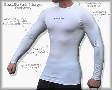 compression spandex athletic shirt