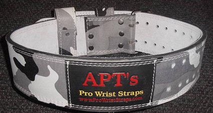 APT Weight Lifting Belt Snow Camo