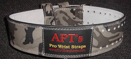 APT Weight Lifting Belt Woodland Camoflauge