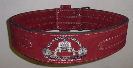 APT Weight Lifting Belt Maroon Suede