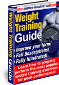 Weight Training Guide - Illustrated Exercises