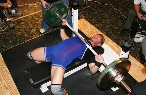 Eric Talmant Benching at the 08 Raw Unity Meet