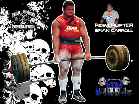 Powerlifter Brian Carroll Wallpaper