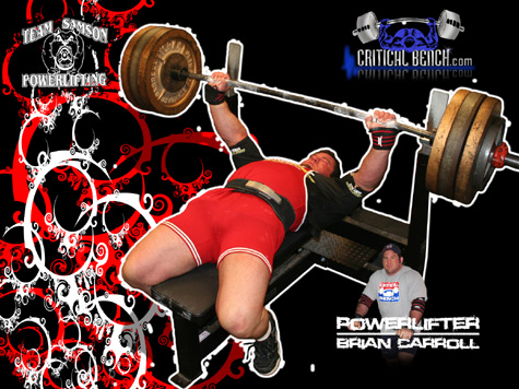 Powerlifter Brian Carroll Wallpaper 2nd Design