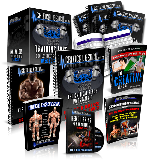 The Critical Bench Program 2.0 Weight Training by Mike Westerdal