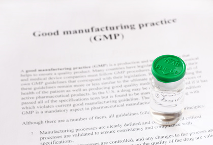 GMP - good manufacturing practice used for production and testin