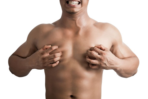 man-breast