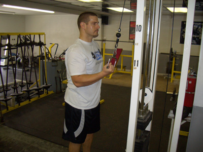 Reverse Grip Cable Press Down Tricep Exercise