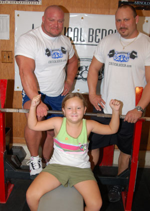 Joey Smith, daughter and training partner Rodney